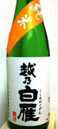 越の白雁純米 (1)
